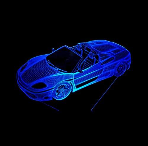 YZWD Illusion Nachtlicht Illusion Lamp 3D Spielzeug Nachtlicht Für Kinder Pferd Licht Für Kinder Das Convertible Car 3D Decor Führte Die Nachtlicht-Schreibtischlampe