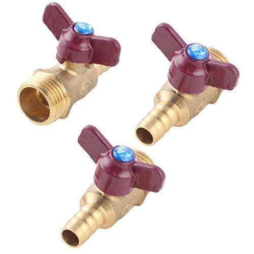 DealMux métal Robinet de la cuisine Tube eau huile gaz flux de la Bille Valve Fitting Adapter 3 pièces