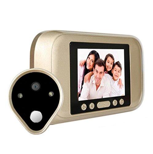 Preisvergleich Produktbild Video Türklingel Smart Türklingel Sichtbar HD Home Security Kamera 3, 2 inch Video Türsprechanlage Nehmen ein Foto Video Nachtsicht Türklingel
