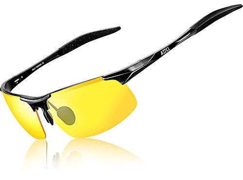 ATTCL® 2016 polarisierende Metal Sonnenbrille herren Sportbrille 8177 Night Vision