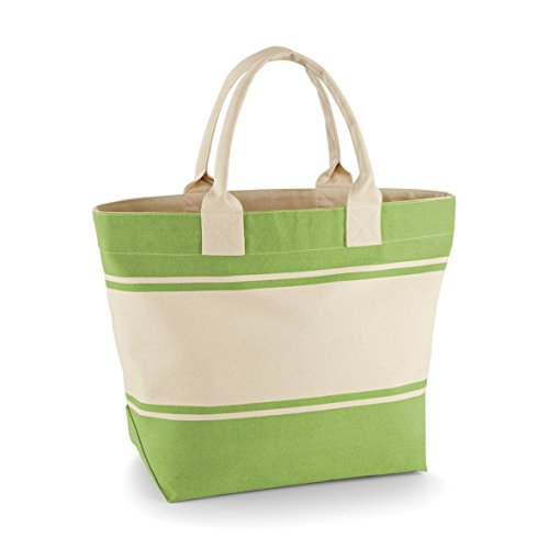 Quadra - Borsa in Canvas Verde