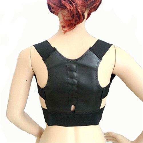 ECYC® Othopedic Corset Back Shoulder Corrector De La Postura Mujer Body Posture CinturóN EláStico MagnéTico, Negro
