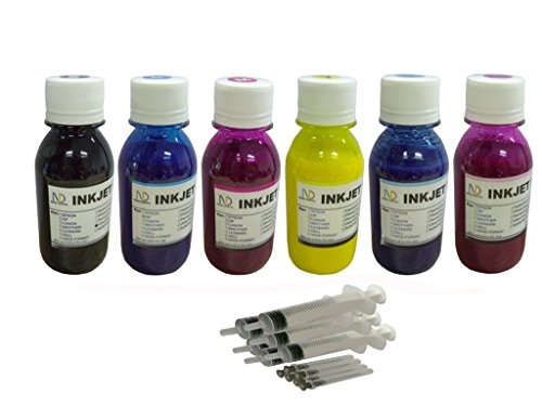 INKXPRO BRAND 6 X 100ml Professional True Color Sublimation ink refills for  Epson Artisan 1430, 50, 837,730, Epson photo stylus 1400 printers (For