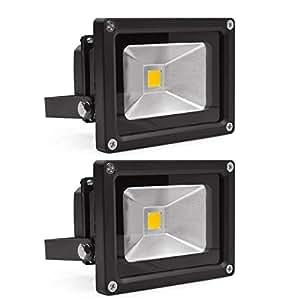 LED Wandstrahler Flutlicht Fluter Strahler Scheinwerfer 2 Stk 230V 10W IP65 Spot