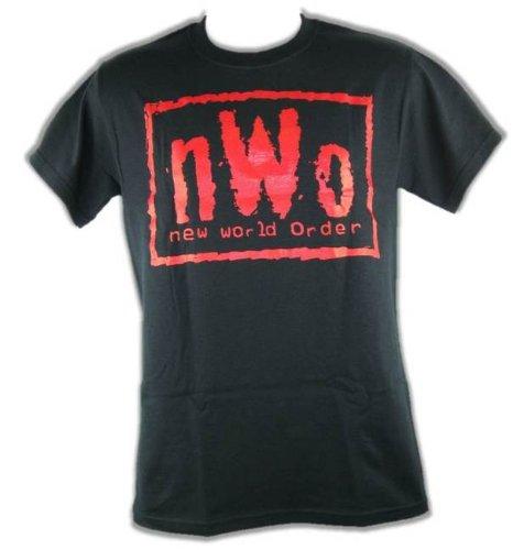 Unbekannt T-Shirt NWO Logo Schwarz Rot Retro Bis 5XL !, Gr.:M - Nwo-t-shirt