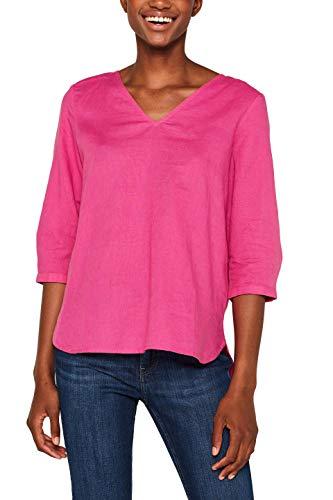 ESPRIT Damen 049EE1F005 Bluse, Rosa (Pink Fuchsia 660), Herstellergröße: 38