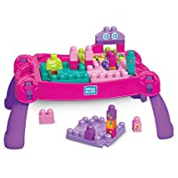 Mega Bloks FFG22 Build 'N Learn Table, Pink