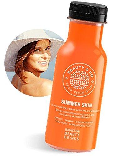 BEAUTY&GO SUMMER SKIN 12x250 ml - EDICIÓN LIMITADA VERANO - Bebida cosmética de Péptidos de Colágeno, con Macro-Antioxidantes y Ácido Hialurónico diseñada para purificar y proteger la piel
