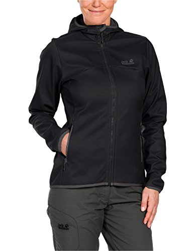 Jack Wolfskin Damen Softshell Jacke Glacier Valley II Jacket, Black, M, 1303281-6000003