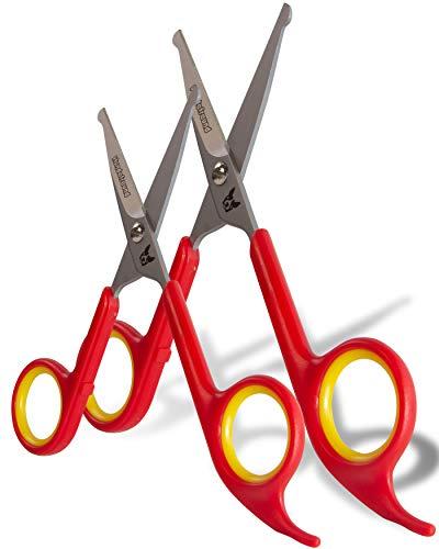 Set di forbici Hundefreund professionali - Set di 2 forbici per la cura e il taglio del pelo di tutti i cani | Forbici in acciaio inox con le punte arrotondate