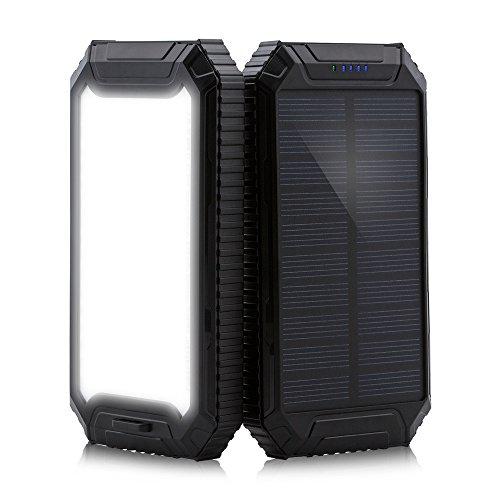 ¡Disfrute del banco de reserva de la energía solar del cargador de batería del cargador solar de PowerGreen 10000mAh! Presupuesto Tipo de la batería: Batería del Li-polímero Capacidad: 10000mAh Entrada: DC5V / 2A Salida: DC 5V / 1A (USB1) DC 5V / 2A ...