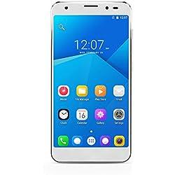 YUNTAB SIM-Free Smartphone Android 6.0, Dual SIM 4G LTE + 3G, 2 GB RAM + 32GB ROM, MT8735 64-bit Quad Core (White)
