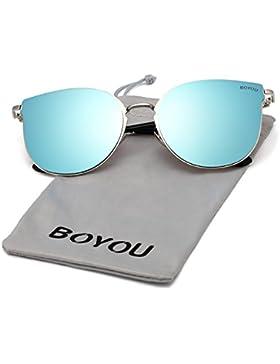 BOYOU Occhiali da sole UV400 A