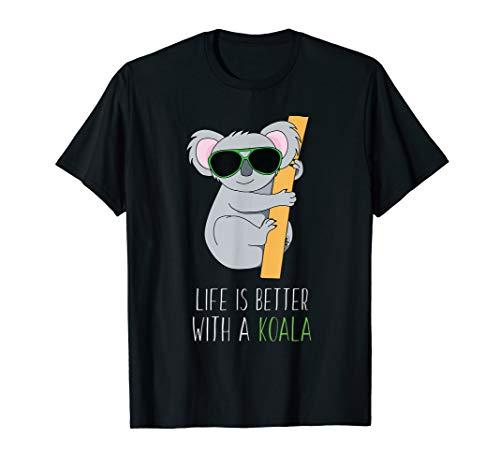 Leben ist besser mit einem Koala T Shirt als Geschenkidee