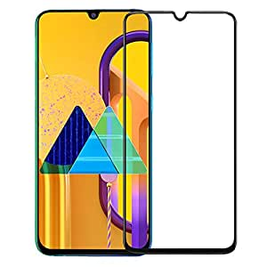 WOW Imagine Edge to Edge Tempered Glass for Galaxy M21 / M30s | Full Glue HD Screen Protection Anti-Scratch with Installation Kit Curved Edges Case Friendly Guard for Samsung Galaxy M30s / M21 - Black