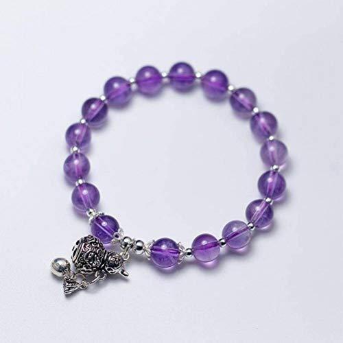 BinLZ S925 Silber Armband Weibliche Mode Süße Thai Silber Kürbis Amethyst Armband Temperament, s, S925 Silberarmband, Einheitsgröße