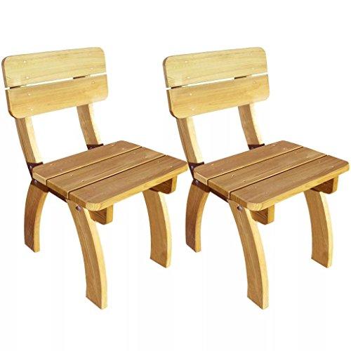 SENLUOWX Stuhl Gartenstuhl aus Kiefer imprägniert 2Stück