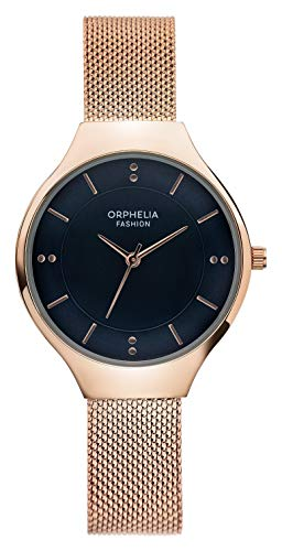 Orphelia Fashion Damen Analog Quartz Uhr Swirl mit Mesh Edelstahl Armband