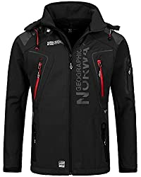 Geographical Norway Tambour Herren Softshell Jacke (Black, 3XL)