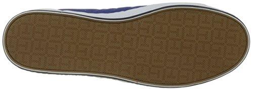 Tommy Hilfiger Herren Essential Flag Detail Sneaker Blau (Monaco Blue 408)