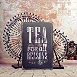 Alcoa Prime TEA FOR ALL REASONS Tin Sign - Best Reviews Guide