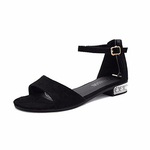 XIAOGEGE Meine Damen Sandalen mit niedrigen Taupunkt - toe nicht den Slip Frauen Schuhe, äh 38