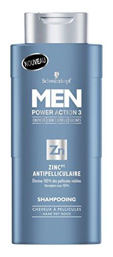 Schwarzkopf Shampooing Anti Pelliculaire Zinc PT pour Homme 250 ml