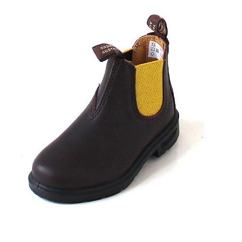 Blundstone Kids 1416 Brown/Yellow, Größe:24 - Dunkelbraune Leder Kinder Schuhe