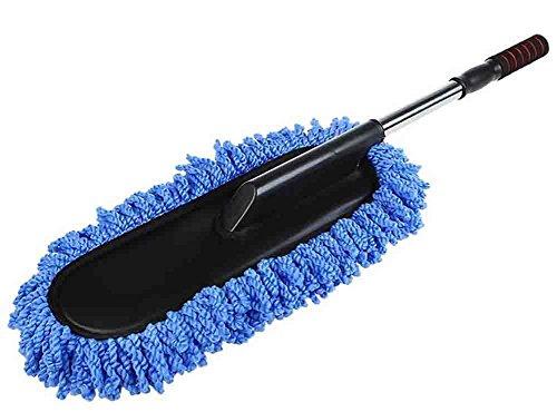 BMDHA Teleskopisch Autowaschbürste Baumwolle Nass und Trocken Multifunktion Autobürste Waschbürste Wird Autofarbe Nicht Verletzen