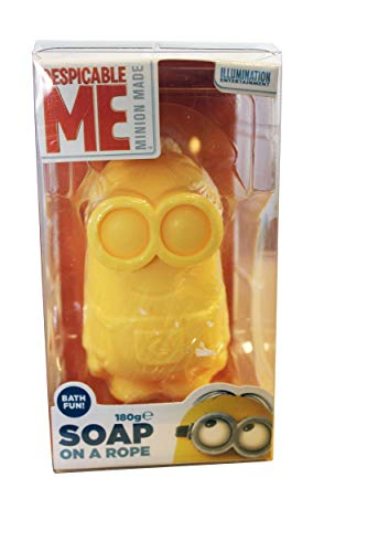 Despicable Me GSKIMIN142 Minion Soap On A Rope Yellow 180g