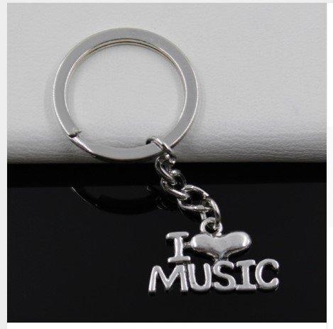 Schlüsselanhänger I love Music