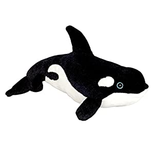 Wild Planet- Ballena, All About Nature-30cm Orca-Hecho a Mano, Peluche Realistico, Multicolor (K7920)