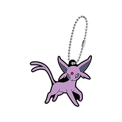 Bandai Pokemon Eevee & Friends Rubber Mascot Swing Keychain~196 Eifie Espeon Psiana Mentali (Pokemon Plüschtier Leafeon)