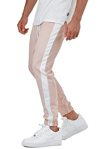 EightyFive Herren Jogging-Hose Stripe Pants Slim Fit Sweatpants Streifen  EFJ1296, Hosengröße L c22463bb0c