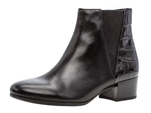 Gabor Damen Stiefelette 32.812, Frauen Kurzstiefel,Stiefel,Boot,Halbstiefel,Bootie,Reißverschluss,schwarz (Micro),42 EU / 8 UK