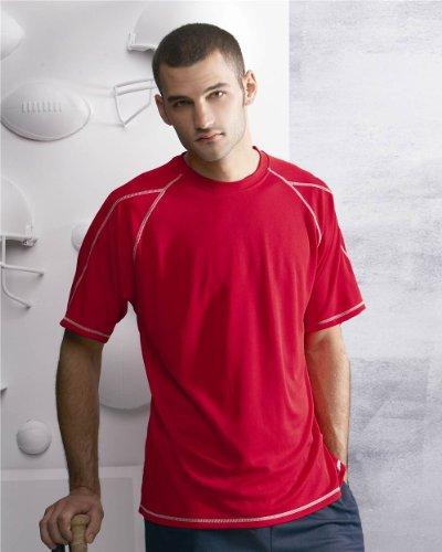 Bella+Canvas: Unisex Jersey Deep V-Neck T-Shirt 3105 Rot