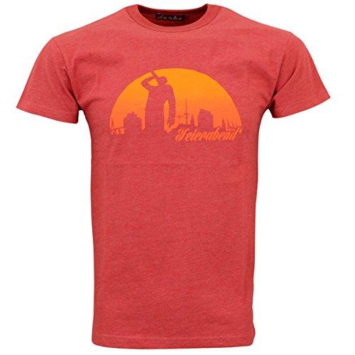 derbe Hamburg Herren T-Shirts, Größe:XL, Hamburg :Feierabend Reloaded - Red Melange