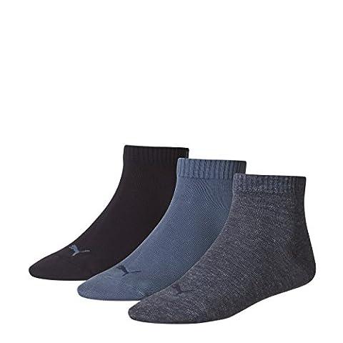 Puma Quarter Sock (3 Pairs), Denim - UK 2.5-5