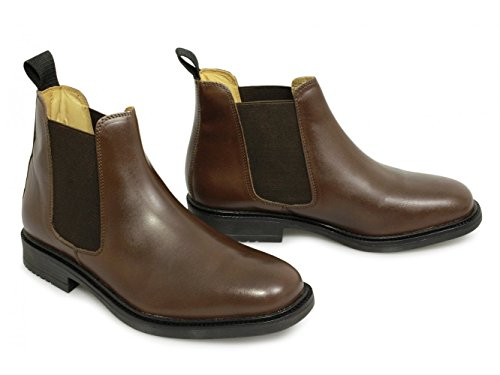 Twin Gusset Herren Chelsea Boots Stiefel, braun, Leder, gepolstert, Braun