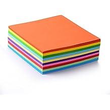 faltpapier, 500fogli 15x 15cm, 70G/MQ 10colori–Disegno Alta Qualità Foglie pieghevole per origami e progetti creativi