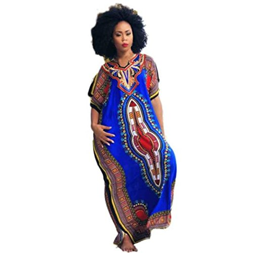 TUDUZ New Ladies Oversized Maxi Kimono Kaftan Tunic Kaftan Dress Casual Loose African Print Dress