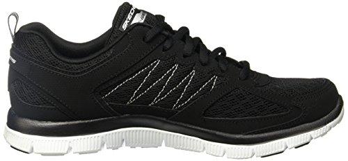 Skechers Flex Appealepicenter, Baskets Basses femme Black/White