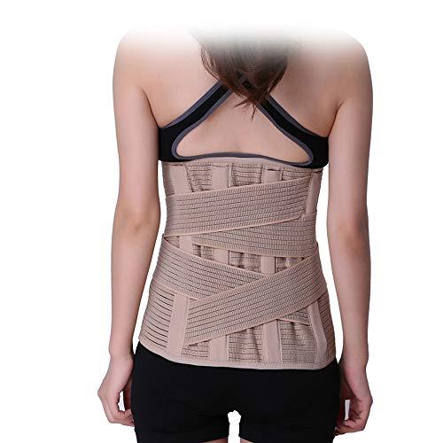 XMXWQ Rückenbandage Mit Stützstreben Und Verstellbare Nierengurt Rückenbandage - Zur Milderung Damen Lenden- Und Rückenschmerzen,M