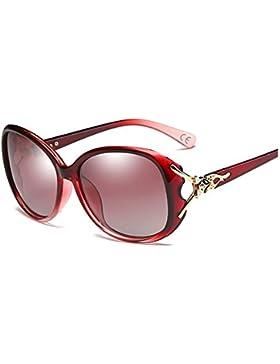 BVAGSS Classic Polarizado Lentes Marco Grande Retro Vintage Gafas De Sol Mujer UV400(WS024)