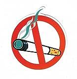 Nichtraucher Aufkleber No Smoking Zeichen Piktogramm Rauchverbot Sticker Vorsicht bitte nicht rauchen lustig Pickerl