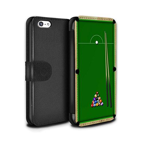 Stuff4 Coque/Etui/Housse Cuir PU Case/Cover pour Apple iPhone 5C / Pack 6pcs Design / Jeux Collection Billard Vert