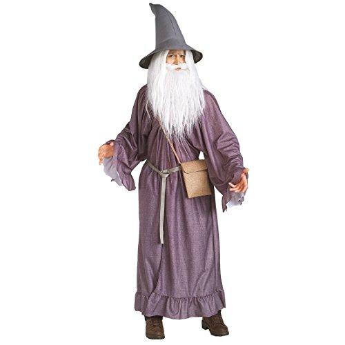 Herr der Ringe - Gandalf Kostüm Erwachsene, 4teilig, günstiges Karneval Kostüm (Der Hobbit Erwachsenen Gandalf Hut)