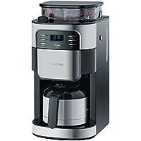 Kaffeeautomat mit Mahlwerk und Edelstahl-Thermokanne, ca. 1000 W, bis 8 Tassen, Edelstahl-Thermokanne mit Durchbrühdeckel, LCD Display mit Timerfunktion, Mahlwerk-Deaktivierungsfunktion, Aromawahl