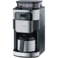 SEVERIN KA 4812 Kaffeeautomat mit Mahlwerk, Edelstahl-Thermokanne, gebürstet-schwarz