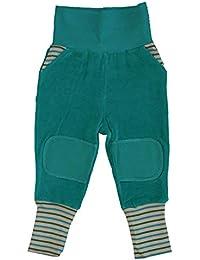 Baby Kinder Hose Nickyhose Bio-Baumwolle 8 Farben Wählbar GOTS Nicki Strampelhose Jungen Mädchen Gr. 50/56 bis 104
